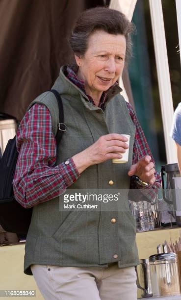 Princess Anne Princess Royal at The Gatcombe Horse Trials at Gatcombe Park on September 14 2019 in Stroud England