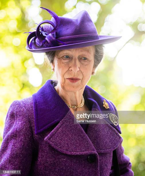 Princess Anne, Princess Royal attends a service of Thanksgiving to mark the centenary of The Royal British Legion at Westminster Abbey on October 12,...