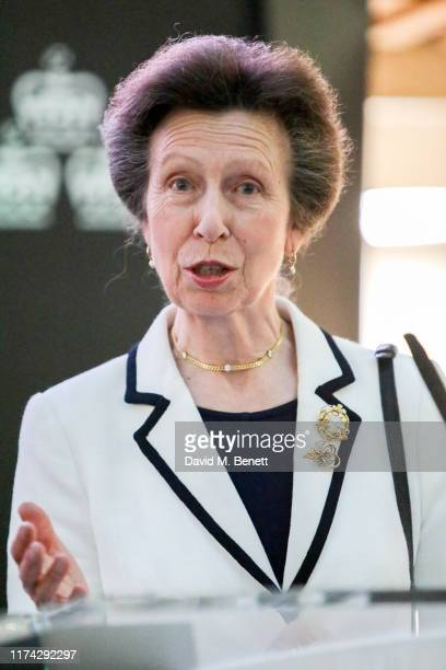 Princess Anne, Princess Royal attends an event celebrating 200 years of Henry Poole banking with Coutts, and the book launch of 'Henry Poole & Co:...