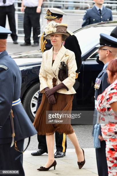 Princess Anne Princess Royal attends as members of the Royal Family attend events to mark the centenary of the RAF on July 10 2018 in London England