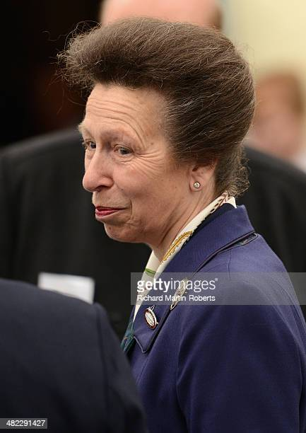 Princess Anne Princess Royal attends Day 1 of the Aintree races at Aintree Racecourse on April 3 2014 in Liverpool England