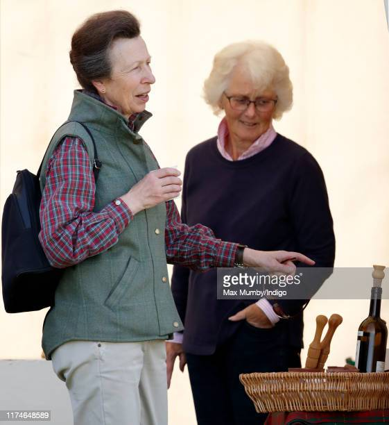 Princess Anne Princess Royal attends day 2 of the Whatley Manor Gatcombe International Horse Trials at Gatcombe Park on September 14 2019 in Stroud...