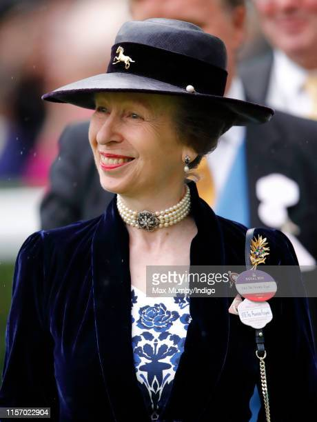 Princess Anne, Princess Royal attends day two of Royal Ascot at Ascot Racecourse on June 19, 2019 in Ascot, England.