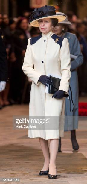 Princess Anne, Princess Royal attends the 2018 Commonwealth Day service at Westminster Abbey on March 12, 2018 in London, England.