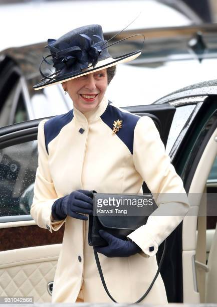 Princess Anne Princess Royal attends the 2018 Commonwealth Day service at Westminster Abbey on March 12 2018 in London England