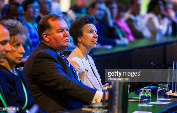 Princess Anne Princess Royal attends the 26th Commonwealth Agricultural Conference at the Royal International Convention Centre on October 21 2014 in...