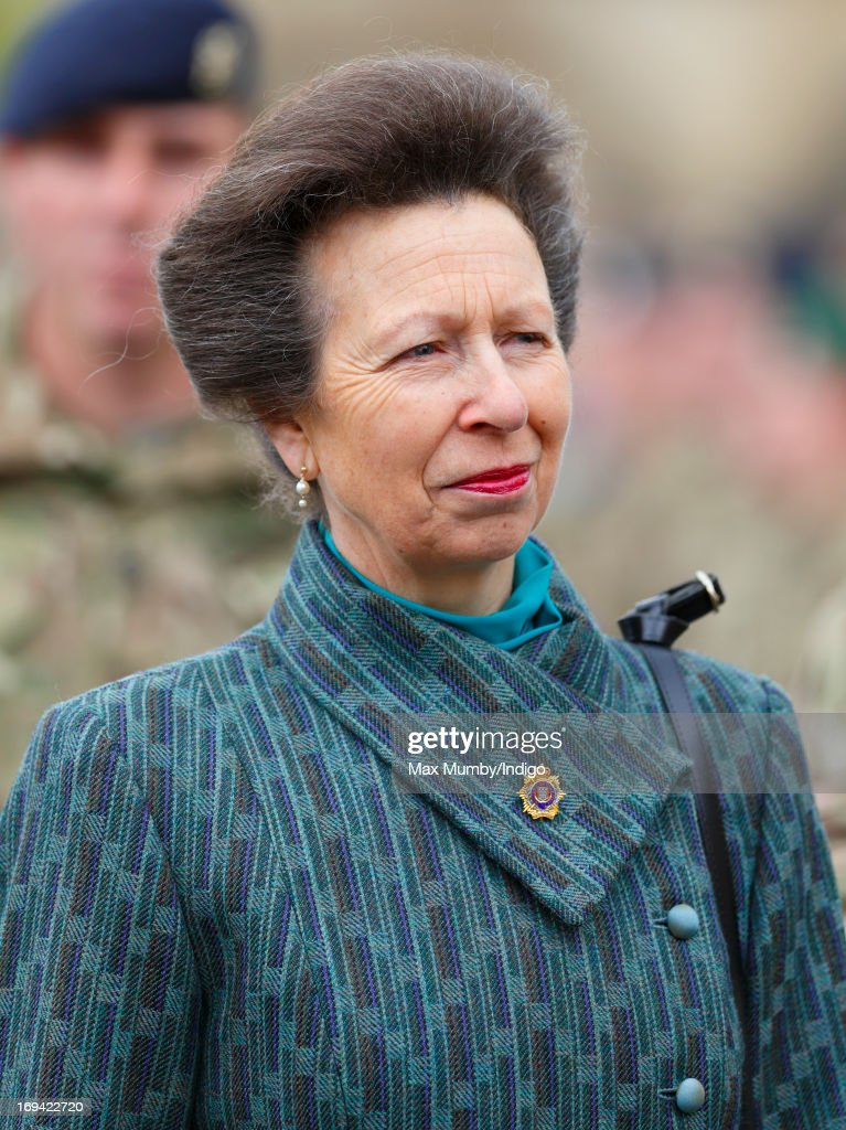 Princess Anne, Princess Royal Presents Medals To Royal Logistics Corps Troops