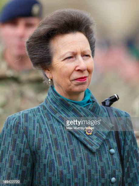Princess Anne Princess Royal attends the Afghanistan Operational Service Medals parade by troops of 12 Logistic Support Regiment Royal Logistic Corps...