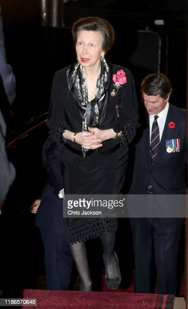 Princess Anne Princess Royal attends the annual Royal British Legion Festival of Remembrance at the Royal Albert Hall on November 09 2019 in London...