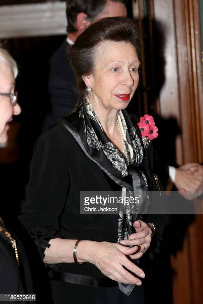 Princess Anne, Princess Royal attends the annual Royal British Legion Festival of Remembrance at the Royal Albert Hall on November 09, 2019 in...