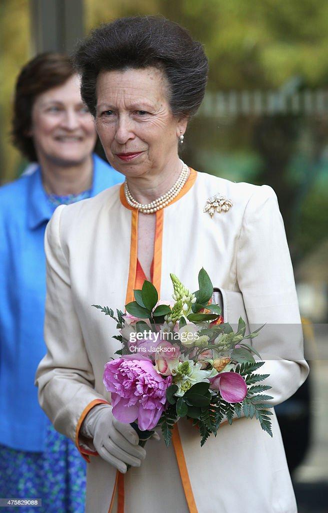 Queen Elizabeth II Attends Centenary Annual Meeting Of The National Federation Of Women's Institute : Nachrichtenfoto