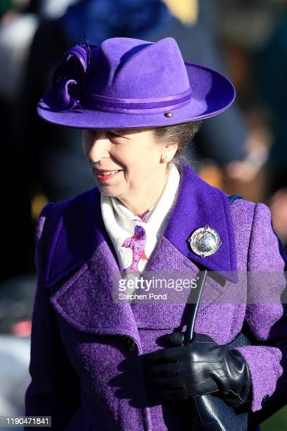 Princess Anne, Princess Royal attends the Christmas Day Church service at Church of St Mary Magdalene on the Sandringham estate on December 25, 2019...