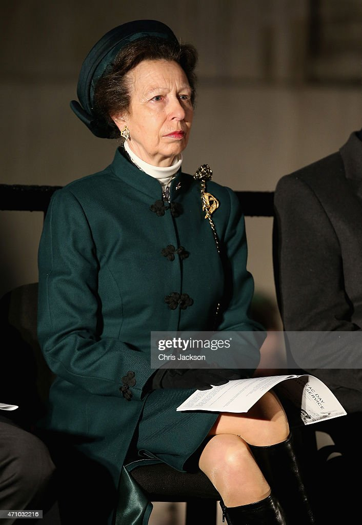 Princess Anne, Princess Royal attends the early morning ANZAC Day Dawn Service to start at Wellington Arch on April 25, 2015 in London, England. Today marks the 100th anniversary since the ANZAC landings at Gallipoli, there will be three commemorative ceremonies in London, a Dawn Service, a wreath laying ceremony at The Cenotaph and a service at Westminster Abbey. The Gallipoli land campaign, in which a combined Allied force of British, French, Australian, New Zealand and Indian troops sought to occupy the Gallipoli Peninsula and the strategic Dardanelles Strait during World War I, began on April 25, 1915 against Turkish forces of the Ottoman Empire. The Allies, unable to advance more than a few kilometers, withdrew after eight months. The campaign cost the Allies approximately 50,000 killed and up to 200,000 wounded, the Ottomans approximately 85,000 killed and 160,000 wounded.