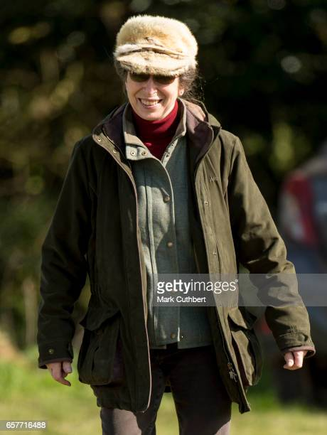 Princess Anne Princess Royal attends The Gatcombe Horse Trials at Gatcombe Park on March 25 2017 in Stroud England