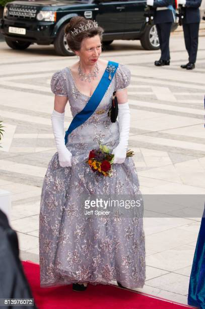 Princess Anne Princess Royal attends the Lord Mayor's Banquet at the Guildhall during a State visit by the King and Queen of Spain on July 13 2017 in...
