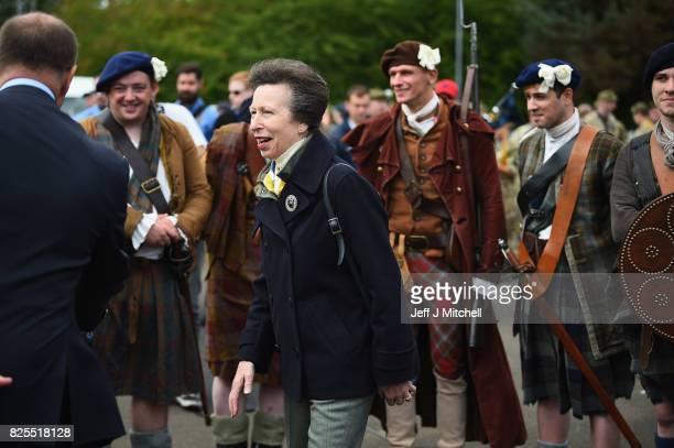 Princess Anne Princess Royal attends The Royal Edinburgh Military Tattoo cast rehearsel at Redford Barracks on August 2 2017 in Edinburgh Scotland...