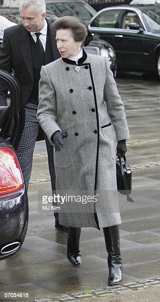 Princess Anne, Princess Royal attends the second memorial service for Lord Lichfield, Royal photographer and cousin of The Queen who died November 11...
