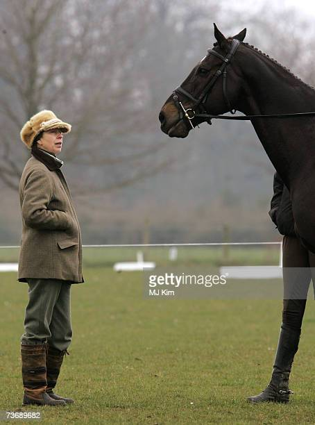 Princess Anne, Princess Royal attends the show jumping competition at the British Eventing Gatcombe Horse Trials sponsored by Land Rover on March 24,...