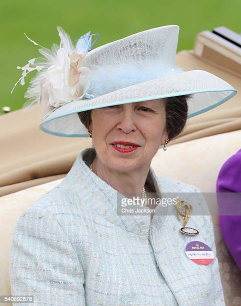 Princess Anne Princess Royal attends the third day of Royal Ascot at Ascot Racecourse on June 15, 2016 in Ascot, England.