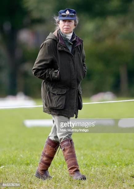 Princess Anne Princess Royal attends the Whatley Manor Horse Trials at Gatcombe Park on September 9 2017 in Stroud England