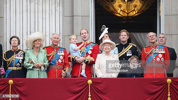Princess Anne Princess Royal Camilla Duchess of Cornwall Prince Charles Prince of Wales Prince George of CambridgePrince William Duke of Cambridge...