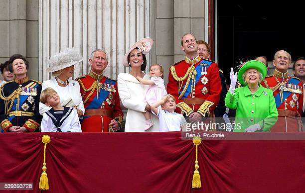 Princess Anne, Princess Royal, Camilla, Duchess of Cornwall, Prince Charles, Prince of Wales, Catherine, Duchess of Cambridge, Princess Charlotte,...