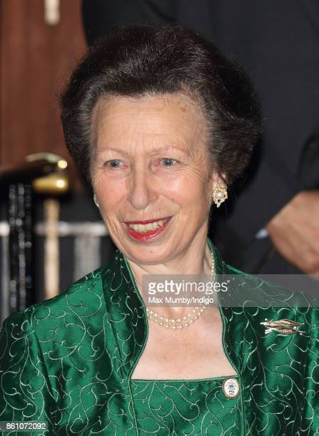 Princess Anne Princess Royal departs after attending a reception to mark the Centenary of the Women's Royal Navy Service and the Women's Auxiliary...