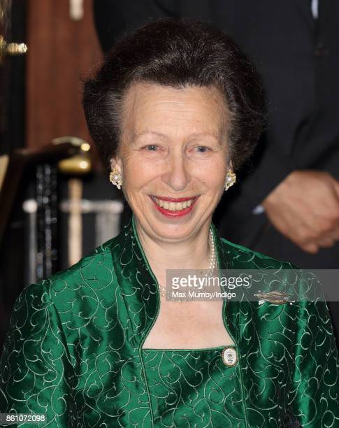 Princess Anne, Princess Royal departs after attending a reception to mark the Centenary of the Women's Royal Navy Service and the Women's Auxiliary...