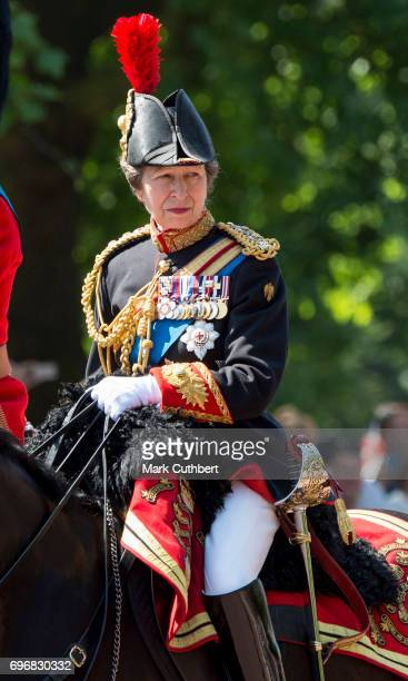 Princess Anne Princess Royal during the annual Trooping The Colour parade on June 17 2017 in London England