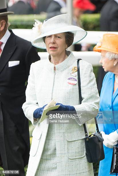 Princess Anne Princess Royal for day 3 of Royal Ascot at Ascot Racecourse on June 16 2016 in Ascot England