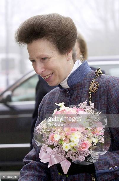 Princess Anne [ Princess Royal ] Is Presented With A Bouquet Of Flowers During Her Visit To Open The 'new ' Medway Maritime Hospital In Gillingham...