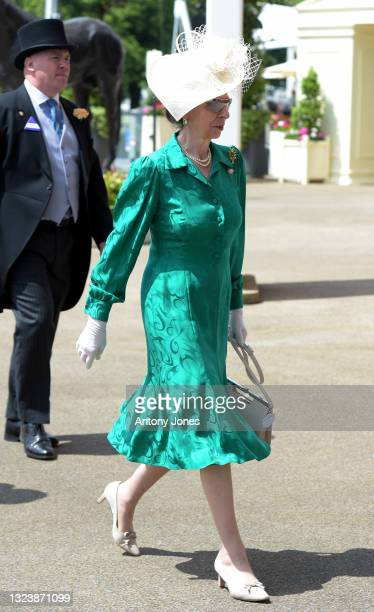 Princess Anne, Princess Royal is seen during Royal Ascot 2021 at Ascot Racecourse on June 16, 2021 in Ascot, England.