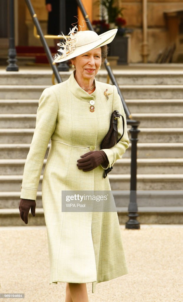 Princess Anne, Princess Royal is seen during the Not Forgotten Association Annual Garden Party at Buckingham Palace on June 7, 2018 in London, England. The Not Forgotten Association is a national tri-service charity which provides entertainment, leisure and recreation for the serving wounded, injured or sick and for ex-service men and women with disabilities. Photo by John Stillwell - WPA Pool/Getty Images)