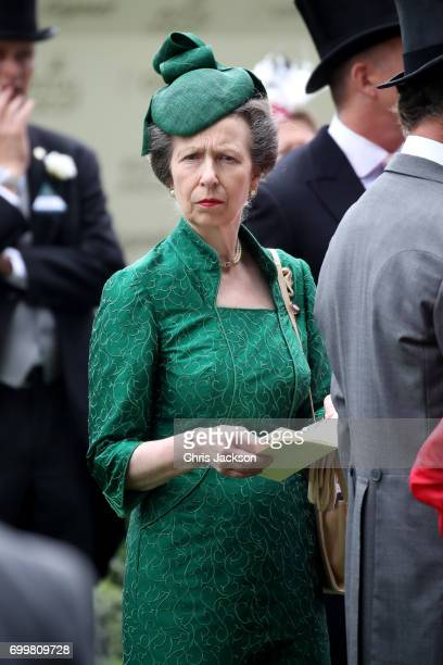Princess Anne Princess Royal is seen in the Parade Ring as she attends Royal Ascot 2017 at Ascot Racecourse on June 22 2017 in Ascot England