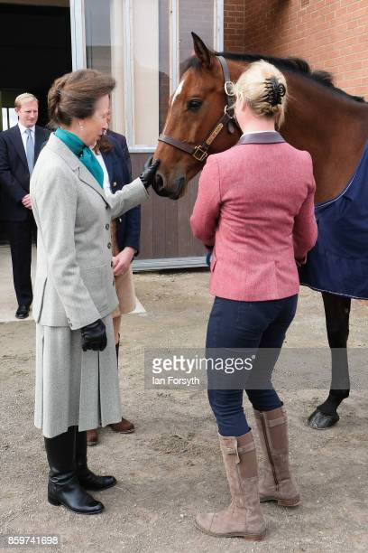 Princess Anne Princess Royal meets Olympic Three Day Eventing Silver medallist Team Gold and European Bronze Medallist and current ranking world...