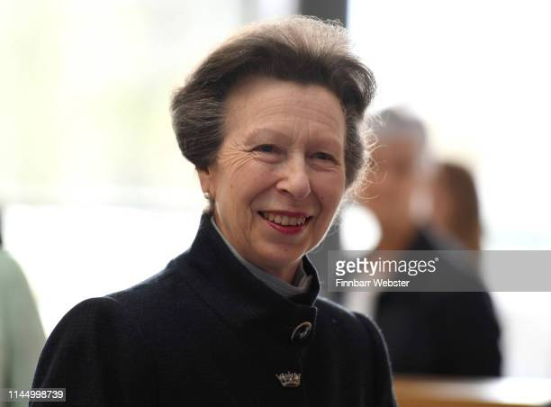 Princess Anne, Princess Royal officially opens the UK Hydrographic Office headquarters on April 25, 2019 in Taunton, England. As the UKHO enters its...