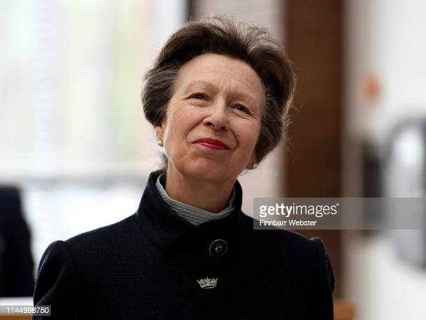 Princess Anne Princess Royal officially opens the UK Hydrographic Office headquarters on April 25 2019 in Taunton England As the UKHO enters its next...