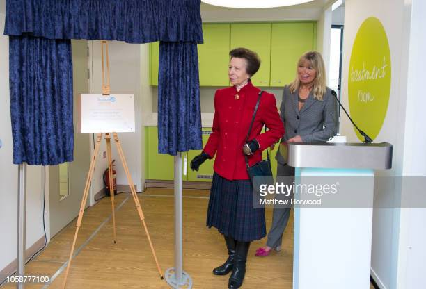 Princess Anne Princess Royal patron of Welsh cancer charity Tenovus Cancer Care opens the charity's third Mobile Support Unit with Tenovus Cancer...