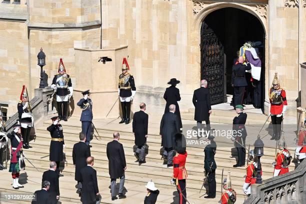 Princess Anne, Princess Royal, Prince Charles, Prince of Wales, Prince Andrew, Duke of York, Prince Edward, Earl of Wessex, Prince William, Duke of...