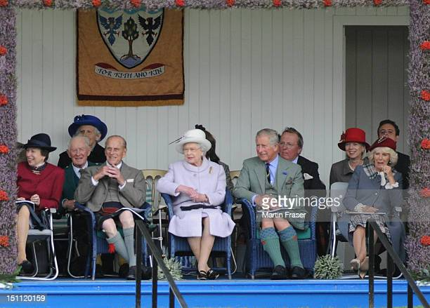 Princess Anne Princess Royal Prince Philip Duke of Edinburgh Queen Elizabeth II Prince Charles Prince of Wales and Camillia Duchess of Cornwall...