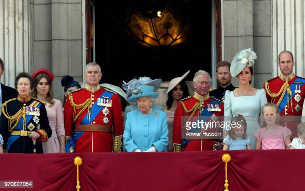 Princess Anne Princess Royal Princess Beatrice Prince Andrew Duke of York Queen Elizabeth II Meghan Duchess of Sussex Prince Charles Prince of Wales...