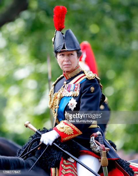 Princess Anne Princess Royal rides down The Mall on horseback during the annual Trooping the Colour Parade on June 14 2008 in London England Trooping...