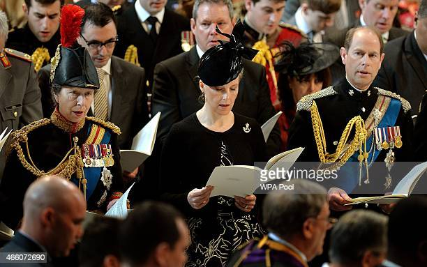 Princess Anne Princess Royal Sophie RhysJones Countess of Wessex and Prince Edward Earl of Wessex attend a Service of Commemoration for troops who...