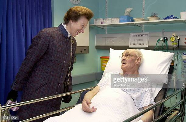Princess Anne [ Princess Royal ] Talking To A Patient During Her Visit To The Medway Maritime Hospital In Gillingham Kent