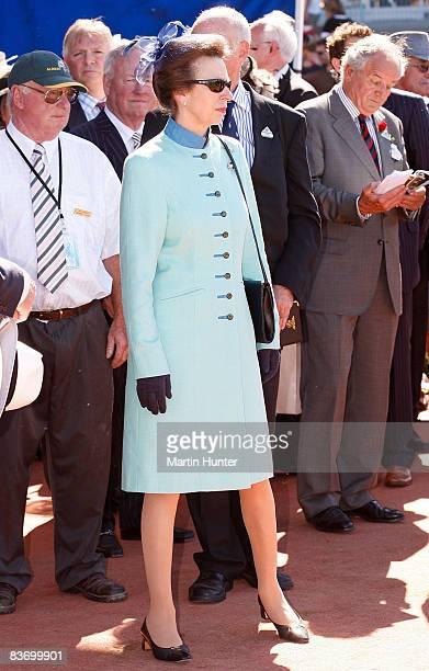 Princess Anne Princess Royal visits the Canterbury Racing Club on November 15 2008 in Christchurch New Zealand Princess Anne is in New Zealand as...