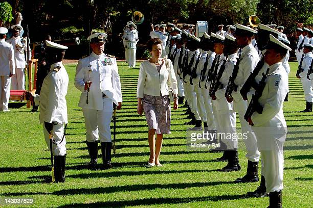 Princess Anne, Princess Royal visits the Simon's Town Naval Base as part of Her Majesty The Queen Elizabeth II's Diamond Jubilee celebrations on...