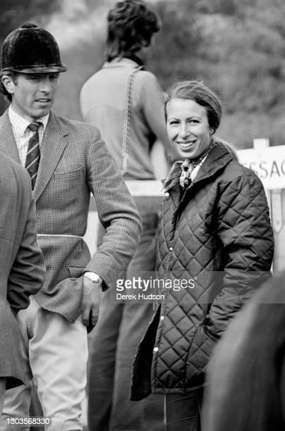 Circa 1975: Princess Anne, Princess Royal with her former husband Captain Mark Philips .