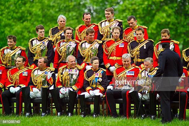 princess anne, princess royal, with her regiment - princess anne princess royal photos stock pictures, royalty-free photos & images