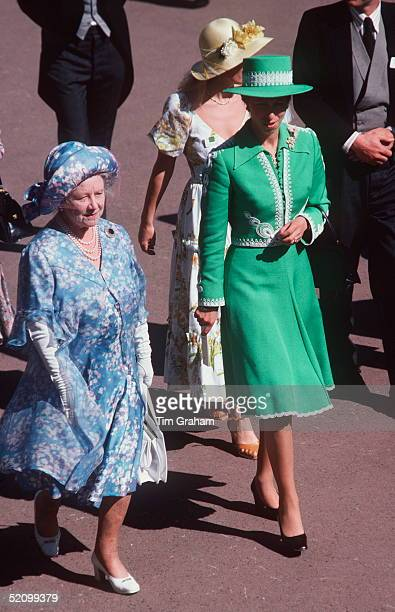 Princess Anne [ Princess Royal ] With The Queen Mother Attending Royal Ascot In Berkshire 2023 June 1978