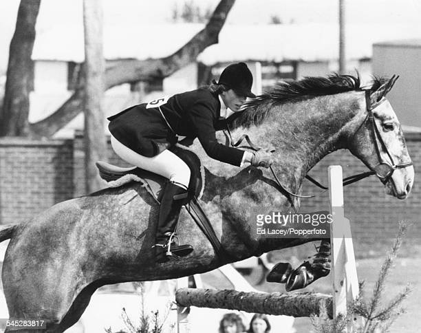 HRH Princess Anne riding 'Collinwood' during the jumping event at the Horse Trials Crookham England March 25th 1972